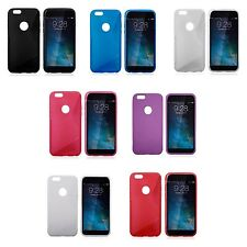 APPLE IPHONE 6 S-LINE SILICONE GEL COVER CASE PLUS FREE SCREEN PROTECTOR