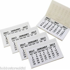 2016 Calendar Tabs Insert Tabs White Mini Calender Tear Off Pads Month To View