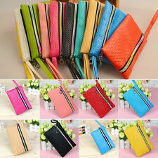 Fashion Womens Card Coin Key Holder Zip PU Leather Wallet Pouch Bag Purse