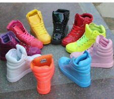 New Stylish Womens Patent Leather High Top Sneakers Lace Up Trainers Candy Color