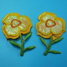 2 Flower Iron on Sew Patch Cute Applique Badge Embroidered Sunflower Lots Baby