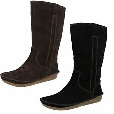Ladies Clarks Warm Lined Long Boots Lima Rhapsody