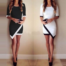Fashion Womens Bodycon Short Sleeve Sexy Party Cocktail Dress Clubwer