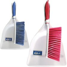 DUSTPAN BRUSH SOFT CLEANING SWEEPER HAND KITCHEN DUST PAN PLASTIC HOME CARPET