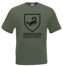 Maglia Rhodesian J601 T-shirt Army Special Forces Military Cotone Collezionismo