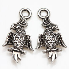 Wholesale 25/50Pcs Tibet Silver Standing Bird Charms Pendants Finding 19*10mm