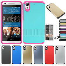 Hybrid Shockproof Armor Case Hard Protective Cover For HTC Desire 626 626S +Film