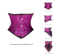 Full Steel Boned Heavy Lacing Brocade Underbust Shaper Corset #HC8420(BRO)