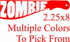 Zombie Machete Vinyl Decal Sticker