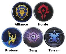 Pin Badge Logo Sign World of Warcraft WOW Starcraft Blizzard Blizzcon Souvenir