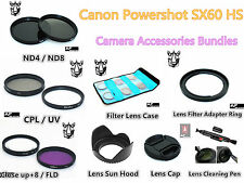 FC9 FILTER KIT - LENS HOOD - LENS CAP - ADAPTER RING - LENS PEN + CASE for Canon