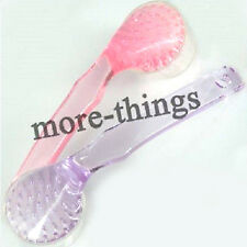 New Pink/ Purple Nail Tips Cleaning Brush After File Manicure Pedicure Tool
