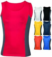 Hanes Womens Sports Vest Tank Top Ladies Wicking Top Gym Fitness Exercise New