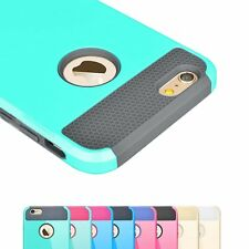 Hybrid Rugged Rubber Shockproof Cover Case Protector for Apple iPhone 5 S/6 Plus