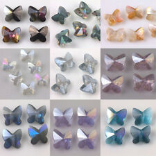 10/20Pcs Charm Faceted Glass Crytal Butterfly Loose Spacer Bead Craft DIY 8*5mm