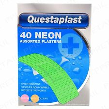 Neon Assorted Plasters SMALL-LARGE Colour First AId Wound/Cut/Scratch Protection