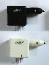 All-in-one USB Ac Wall Charger & 12v Dc Car Charger w/ Two Dual USB Output Ports