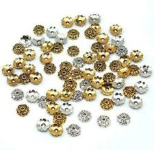 Free Ship 50/500Pcs Gold Plated Flower Beads Caps For Jewelry Making 5x13mm
