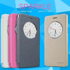 Original Nillkin Sparkle PU Leather Flip Case Cover For OPPO Mirror 5 5S A51
