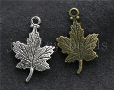 Lot 10/40/200pcs  Antique Silver Exquisite maple leaf Charms Pendant DIY 23x15mm