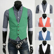 Fashion Mens Casual Slim Fit Business Waistcoat Dress Vest Suit Tuxedo Jacket W