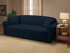 NAVY BLUE JERSEY COUCH STRETCH SLIPCOVER, FURNITURE COVERS, CHAIR LOVESEAT SOFA