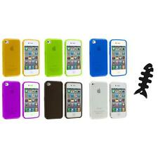 TPU Diamond Pattern Color Case Cover+Cable Wrap for iPhone 4S 4G 4 Accessory