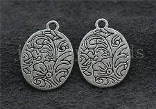 Lot 10/40/200pcs Tibetan Silver exquisite Flower Jewelry Charms Pendant 21x15mm