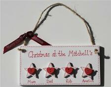 Personalised Christmas Day Hanging Family Plaque Xmas Wooden Gift Present House