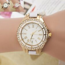 Fashion Women Stainless Steel Band Dial Analog Quartz Sport Casual Wrist Watch