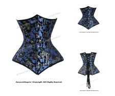 18 Full Double Steel Boned Waist Training Brocade Underbust Corset #8334-A(BRO)