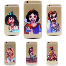 Bloody Princess Snow White The Little Mermaid Clear Case For iPhone 5S 6 S Plus