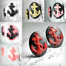 25x18/40x30mm Cameo Cabochon Oval Anchor Resin Vintage Style wholesale colorful