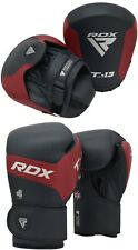 RDX Pro Gel Weight Lifting Body Building Gloves Training Gym Straps Bar Leather