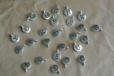TierraCast® Antiqued Silver Plated Charm Alphabet Letter lead-free 1pc