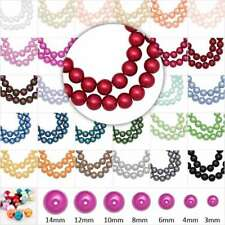 3mm/4mm/6mm/8mm/10mm/12mm/14mm Round Czech Glass Pearl Spacer Beads Findings