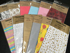 Fancy tissue paper large size 50x75 cm 3 sheets gift wrap 12 prints to choose