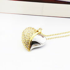 Fastdisk Crystal Heart Necklace 8/16/32/64GB USB2.0 Flash Drive Memory Jump Pen