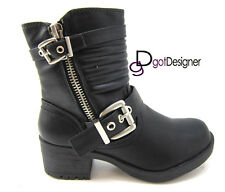Women Fashion Slouch Boot Shoe Flat Mid-Calf Comfort Casual Stylish NEW All Size