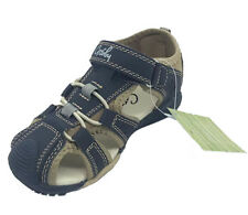 Boys Shoes Grosby Saxon Snr Covered Toe Navy/Taupe Size 13-5 New Sandals