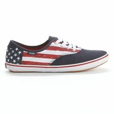 VANS HUNTLEY Womens Shoes Sneakers American Flag Patten Casual Flats USA NEW