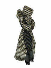 Antony Morato MF0076 Mens Checked Scarf In Yellow and Black