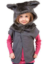 Children's Wolf Boys Girls Zoo Farm Animal Tabard Fancy Dress Up Costume Outfit