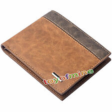 Men's Leather Bifold Wallet ID Business Credit Card Holder Purse Clutch Pockets
