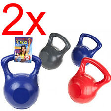 2 X 5KG KETTLEBELL WEIGHTS FITNESS EXERCISE STRENGTH TRAINING GYM TONE WORKOUT