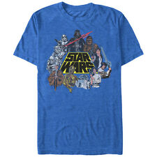 Star Wars Classic Characters Mens Graphic T Shirt