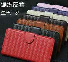 -Mesh Leather Wallet soft Case clutch Cover For Apple iPhone samsung sony Lg etc