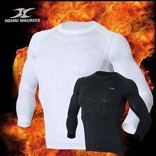 Mens Thermal Base Layer Compression Long Sleeve Shirts Underwear Napping LSM