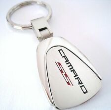 SS CAMARO KEY CHAIN RING FOB CHEVY CHEVROLET Z28 RS ZL1 V8 2015 2016 CHROME NEW