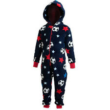 Boys/Childrens Football Stars Fleece Onesie All In One 2 - 11 Years Select Size